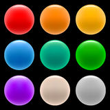 Web buttons - 2. Set of color vector buttons Royalty Free Stock Photos