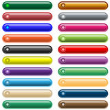 Web buttons 20 shiny assorted colors Royalty Free Stock Photo