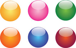 Web Buttons. A colorful collection composed by web buttons designed with plastic, water, and glossy effect useful for print and web Stock Photography