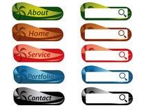 Web buttons Stock Photos