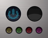 Web buttons. Shiny metallic web computer and internet buttons Stock Photos