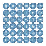 Web buttons royalty free illustration