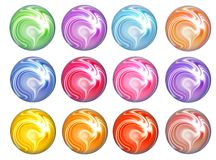 Web buttons. Collection of colorful web buttons Stock Photo