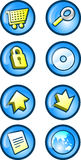 Web Buttons. Or icons royalty free illustration