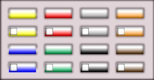 Web buttons. Rectangles web buttons illustration at the gray background Royalty Free Stock Photo