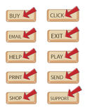 Web buttons. Set of internet web buttons Royalty Free Stock Image