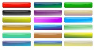 Web buttons. Grandient coloured web buttons set Stock Images