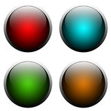 Web Buttons. Background ready for web buttons glass style Royalty Free Stock Photography