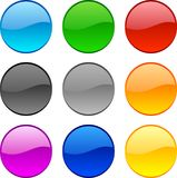 Web buttons. Web shiny buttons. Vector illustration Royalty Free Stock Photography