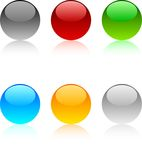 Web buttons. Web shiny buttons. Vector illustration Royalty Free Stock Image