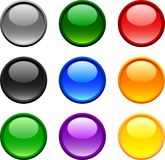 Web buttons. Web shiny buttons. Vector illustration Royalty Free Stock Images