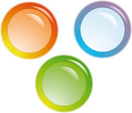 Web buttons. Color web buttons. For any use Stock Images