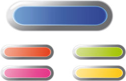 Web buttons. Color web buttons. For any use Royalty Free Stock Photos