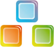 Web buttons. Color web buttons. For any use Stock Photo