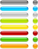 Web buttons. Web shiny buttons. Vector illustration Stock Image