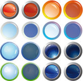 Web buttons. Color web buttons. For any use Stock Photos