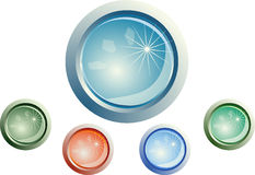 Web buttons. Color web buttons. For any use Royalty Free Stock Image
