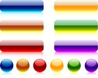 Web buttons. Internet shiny buttons. Vector illustration Royalty Free Stock Photo