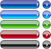 Web buttons. Varicoloured web buttons (blue, green, red, black vector illustration