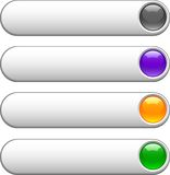 Web buttons. Internet shiny buttons. Vector illustration Royalty Free Stock Photography