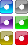 Web buttons. Glossy web buttons (blue, grey, violet, green, brown, red stock illustration