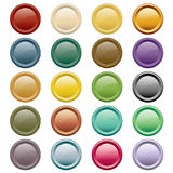 Web buttons assorted colors Stock Images