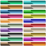 Web buttons in assorted colors Royalty Free Stock Photography