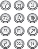 Web buttons with astrology signs. Vector illustration Royalty Free Stock Photos