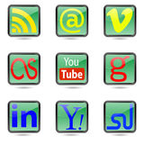 Web buttons. Royalty Free Stock Photo