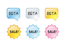 Web buttons Beta Sale Royalty Free Stock Photo