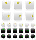 Web buttons (black and white)-2 Royalty Free Stock Image