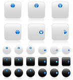 Web buttons (black and white)-2 Stock Image
