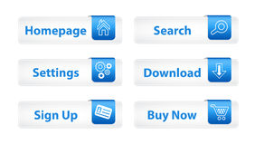 Web Buttons with Blue Bookmarks Royalty Free Stock Image