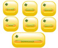 Web buttons, cdr vector Royalty Free Stock Photography