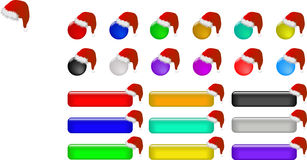 Web buttons for christmas Stock Photo