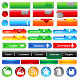 Web buttons collection Stock Photography