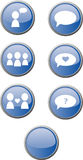 Web buttons / communication Royalty Free Stock Images
