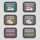Web buttons. With 3d appearance against striped gray background Stock Image