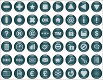Web buttons dark blue Stock Photos