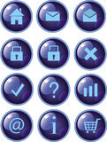 Web buttons dark blue Royalty Free Stock Image