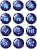 Web buttons dark blue vector illustration