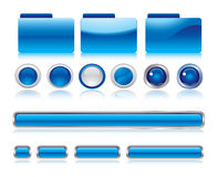 Web buttons design elements Stock Images