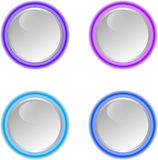 Web buttons for design. Vector set Royalty Free Stock Photos