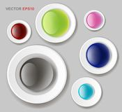 Web buttons for design. Vector white forms set Royalty Free Stock Photos