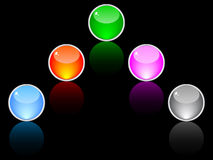 Web buttons different colors Royalty Free Stock Photography
