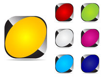 Web buttons different colors stock photo