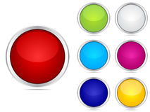 Web buttons different colors Stock Photography