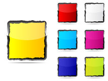 Web buttons different colors Royalty Free Stock Images