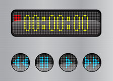 Web buttons and a digital display Royalty Free Stock Image