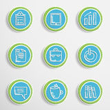 Web Buttons with Drawing Icons Royalty Free Stock Photo